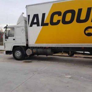 camion Volvo FL7 blanco